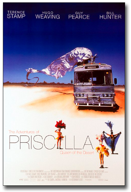 Movie Poster for The Adventures of Priscilla Queen of the Desert.
